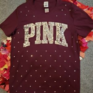VS Pink extra bling top